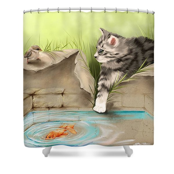 What A Mess... Shower Curtain