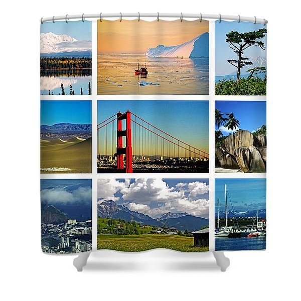 My Wonderful World ... Shower Curtain