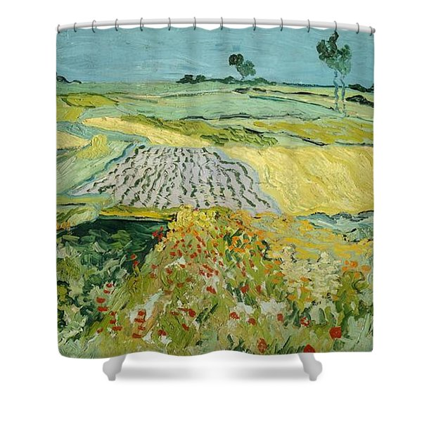 Wheatfields Near Auvers-sur-oise Shower Curtain