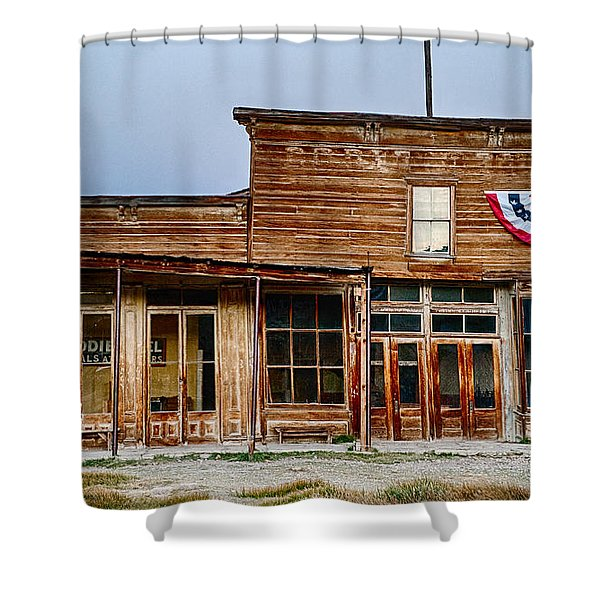 Wheaton And Hollis Hotel At Blue Hour Shower Curtain