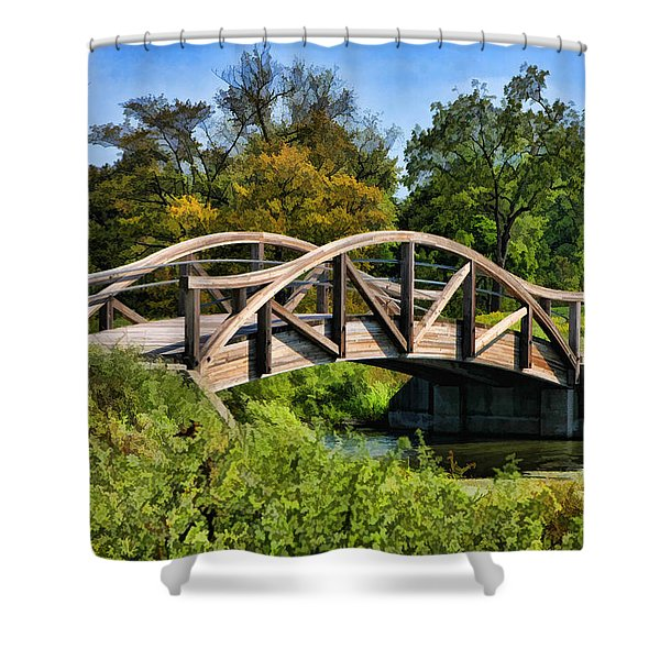 Wheaton Northside Park Bridge Shower Curtain