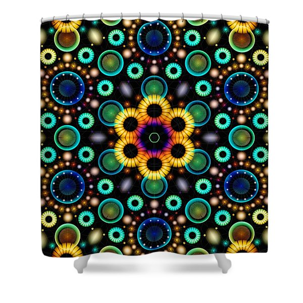 Wheels Of Light Shower Curtain