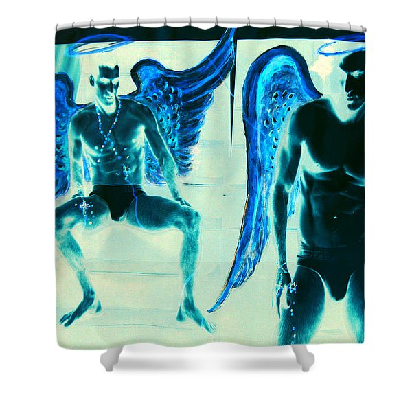 When Heaven And Earth Collide Series Shower Curtain