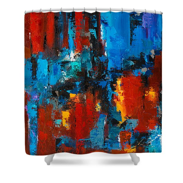When Red And Blue Meet Shower Curtain