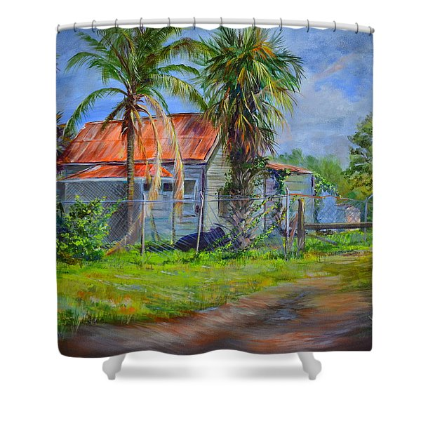 When The Cow Came Home Shower Curtain