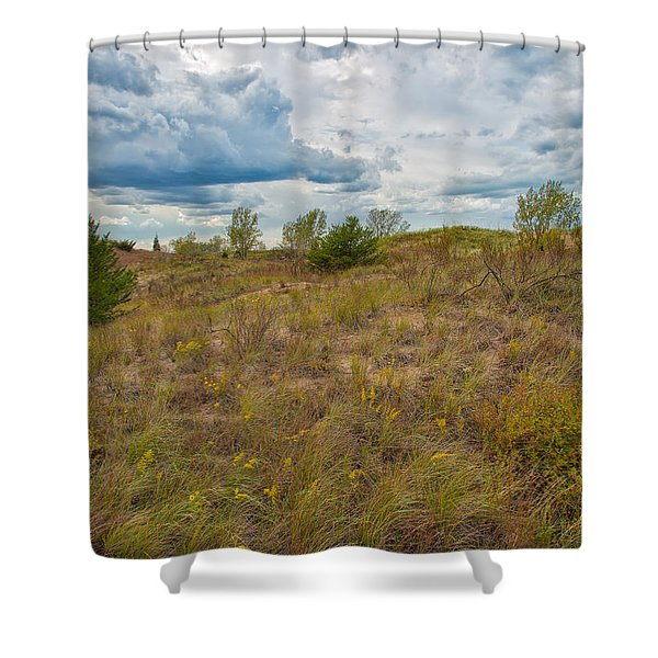 Where The Dunes Meet The Sky Shower Curtain