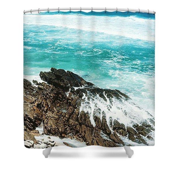 Where The Ocean Breaks Shower Curtain
