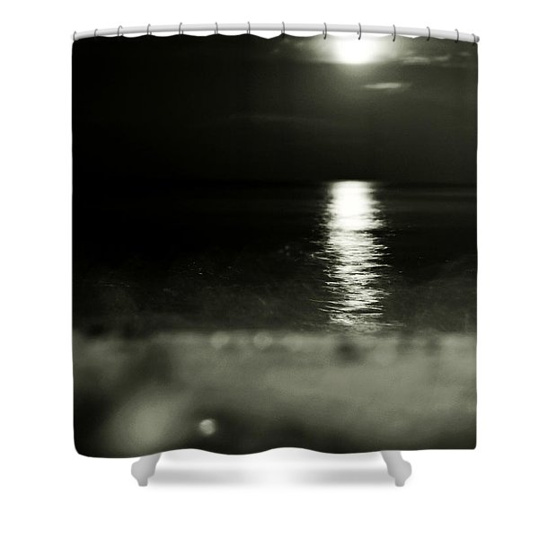 Where Water And Earth Caress Shower Curtain