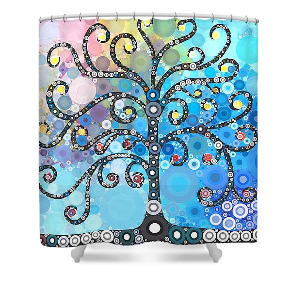 Whimsical Tree Shower Curtain