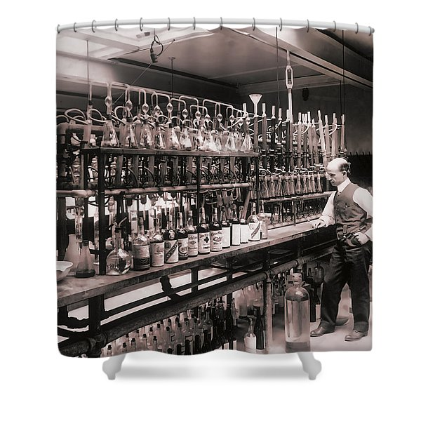 Whiskey Test Lab  1914 Shower Curtain