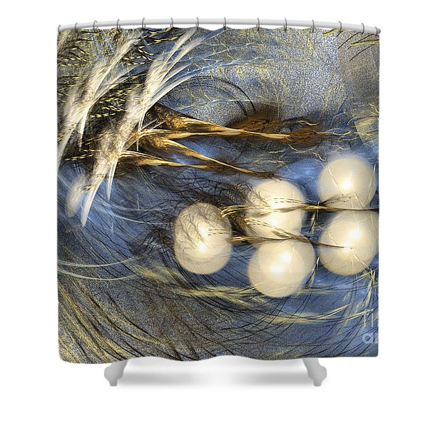 Whispering Wind - Abstract Art Shower Curtain