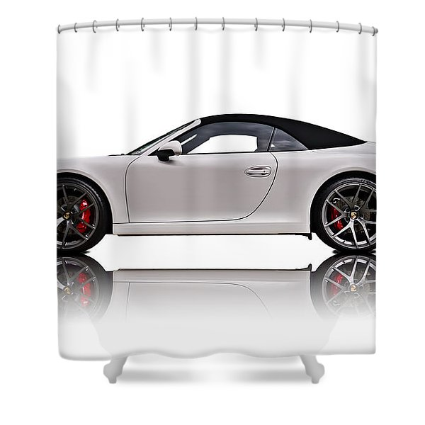 White 911 Shower Curtain