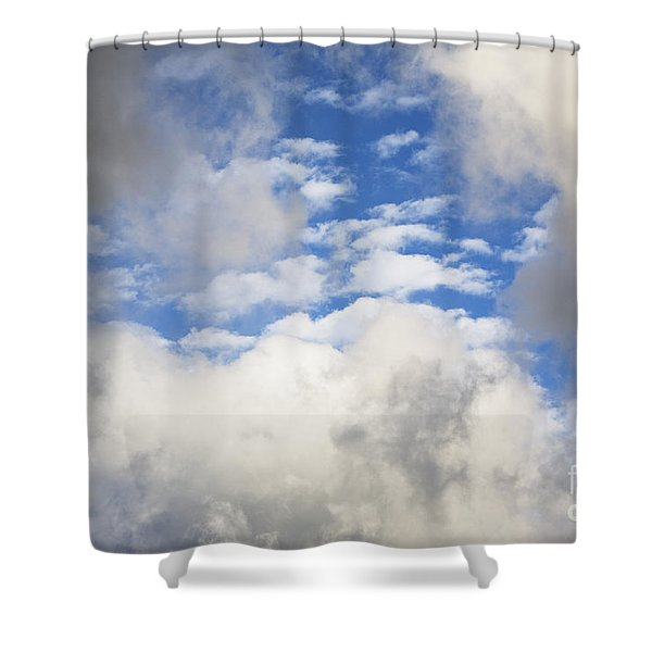 White Clouds And Blue Sky Shower Curtain