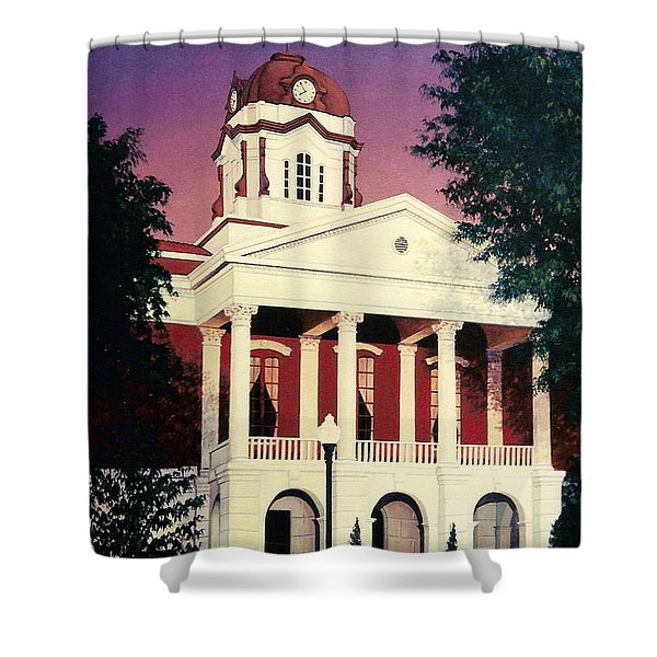 White County Courthouse Shower Curtain