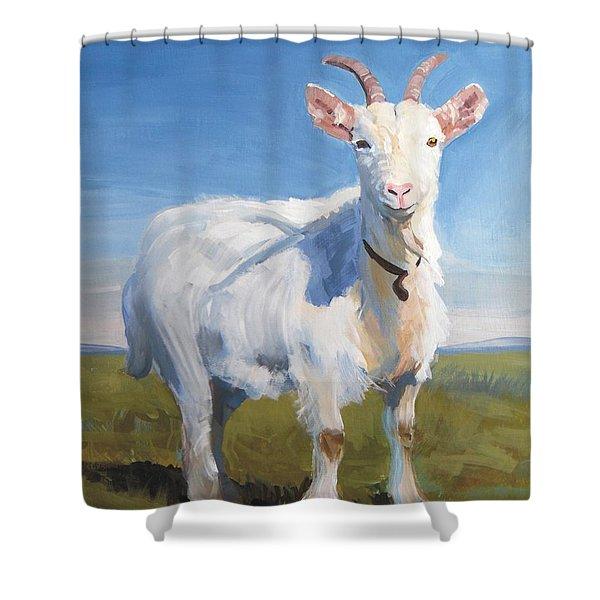 White Goat Shower Curtain