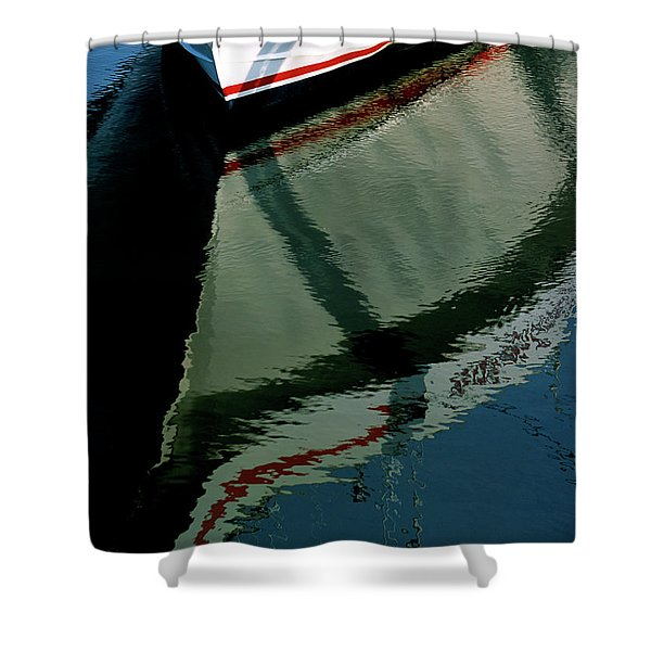 White Hull On The Water Shower Curtain