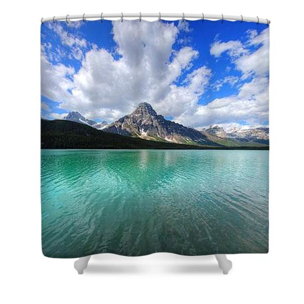 White Pyramid Shower Curtain