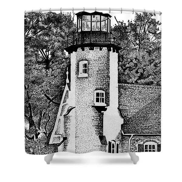 White River Station Shower Curtain