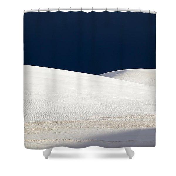 White Sands Dark Sky Shower Curtain