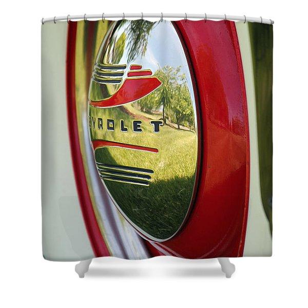 White Sidewalls On Chevy Shower Curtain