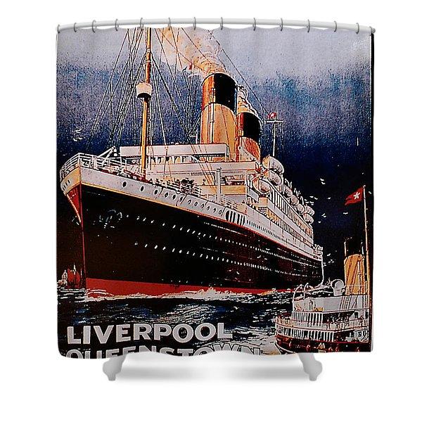 White Star Line Poster 1 Shower Curtain