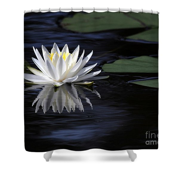 White Water Lily Left Shower Curtain