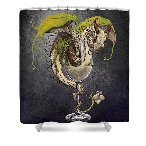 White Wine Dragon Shower Curtain