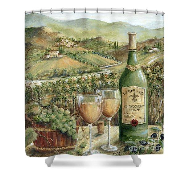 White Wine Lovers Shower Curtain