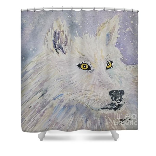 White Wolf Of The North Winds Shower Curtain