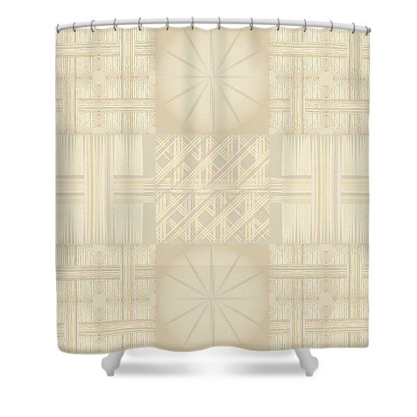 Wicker Quilt Shower Curtain