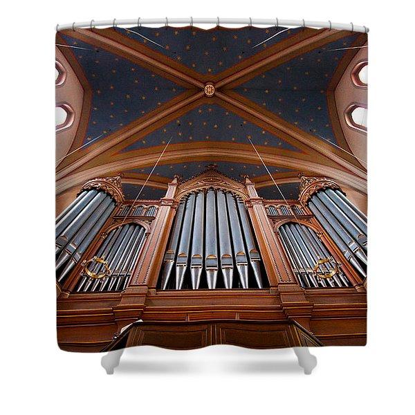 Wiesbaden Marktkirche Organ Shower Curtain