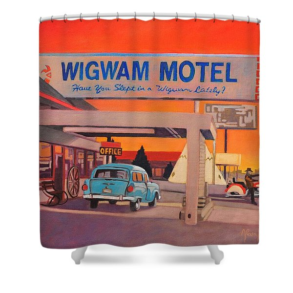 Wigwam Motel Shower Curtain