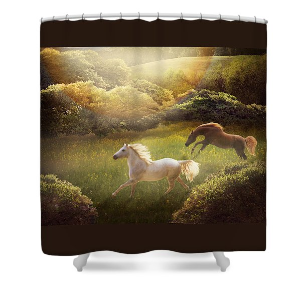 Shower Curtain featuring the photograph Wild And Free by Melinda Hughes-Berland