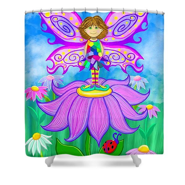 Wild Flower Fairy  Shower Curtain
