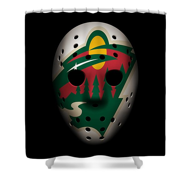 Wild Goalie Mask Shower Curtain