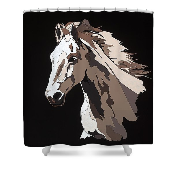 Wild Horse With Hidden Pictures Shower Curtain