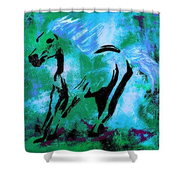 Wild Midnight Shower Curtain