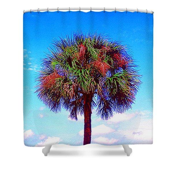 Wild Palm 1 Shower Curtain