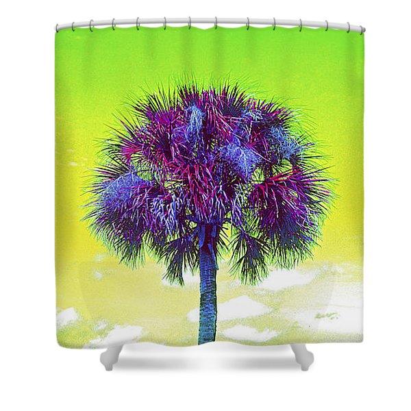 Wild Palm 3 Shower Curtain