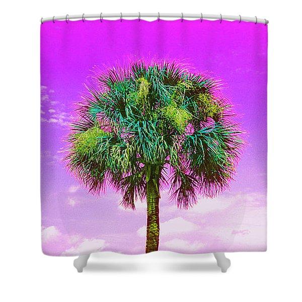 Wild Palm 4 Shower Curtain