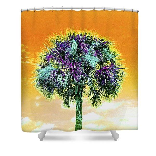 Wild Palm 5 Shower Curtain