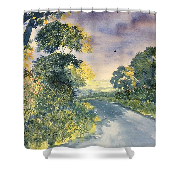 Wild Roses On The Wolds Shower Curtain