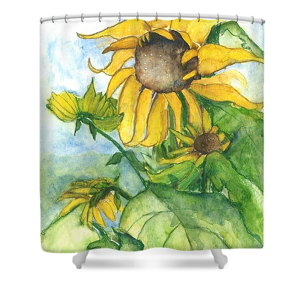 Wild Sunflowers Shower Curtain