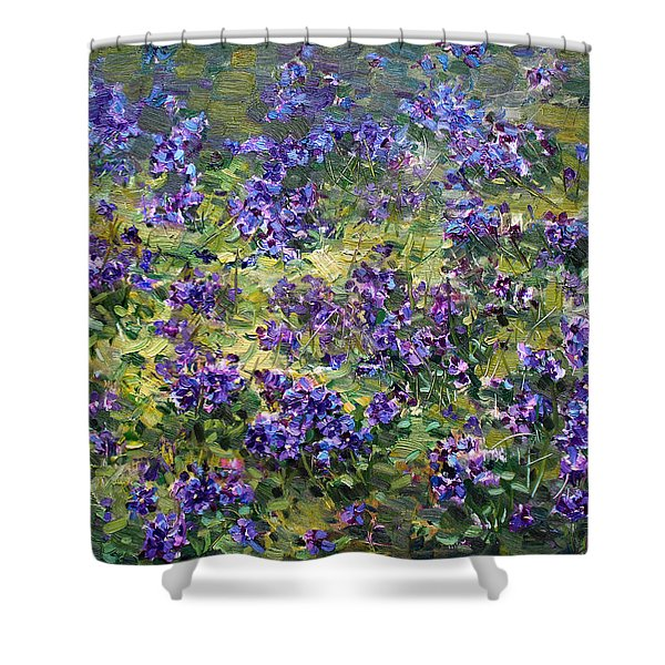 Wild Violets  Shower Curtain