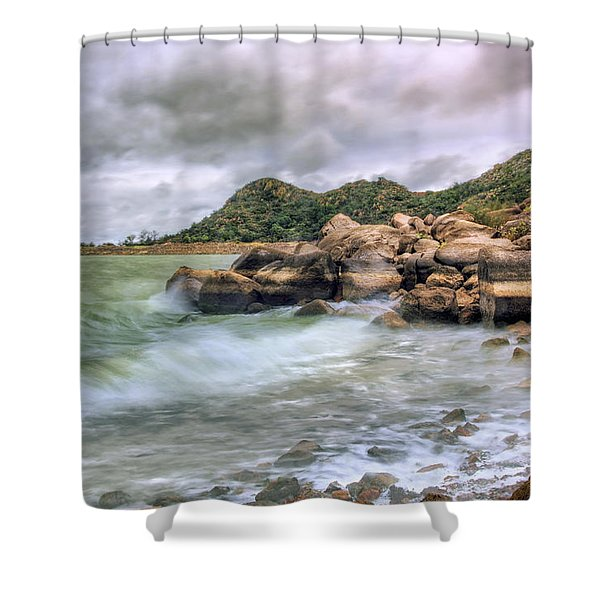Wild Weather On Lake Altus - Oklahoma - Quartz Mountains Shower Curtain