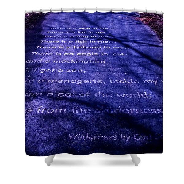 Wilderness - Carl Sandburg Shower Curtain