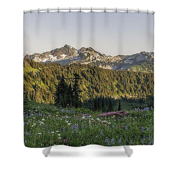 Wildflowers At Mt Rainier Shower Curtain
