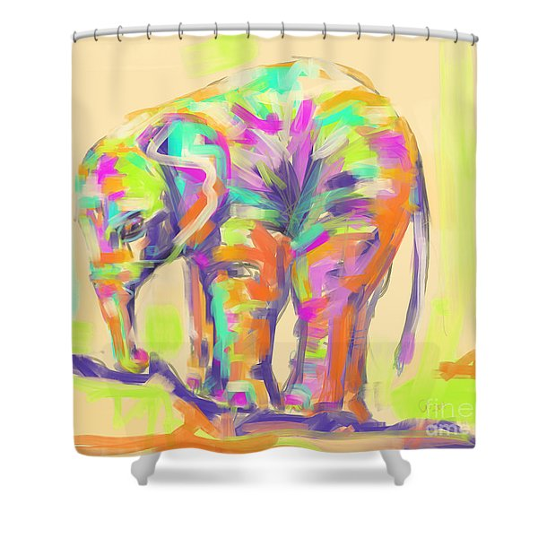 Wildlife Baby Elephant Shower Curtain