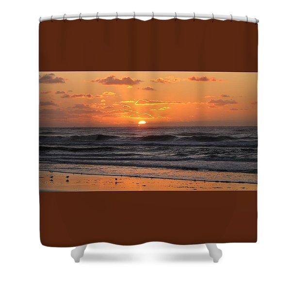 Wildwood Beach Here Comes The Sun Shower Curtain
