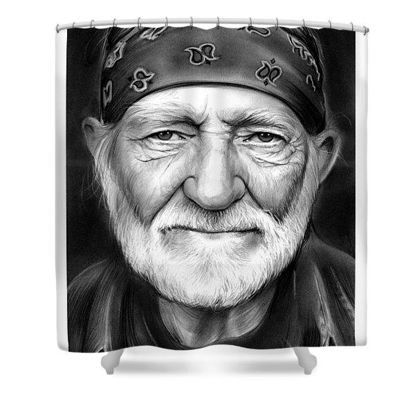Willie Nelson Shower Curtain